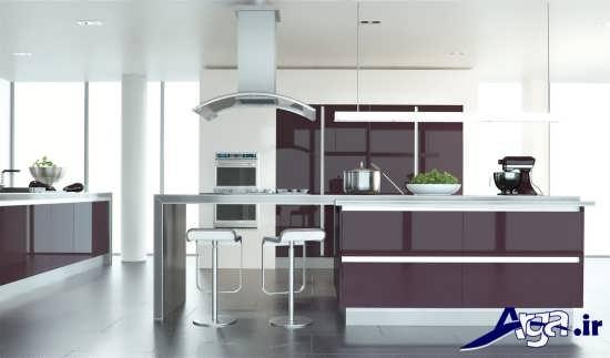 مدل کابینت براق و رنگی برای آشپزخانه