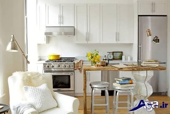 کابینت مدرن برای آشپزخانه های کوچک