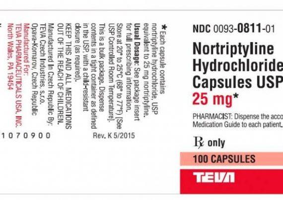 قرص های مفید نورتریپتیلین
