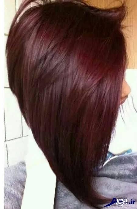 مدل رنگ موی آلبالویی