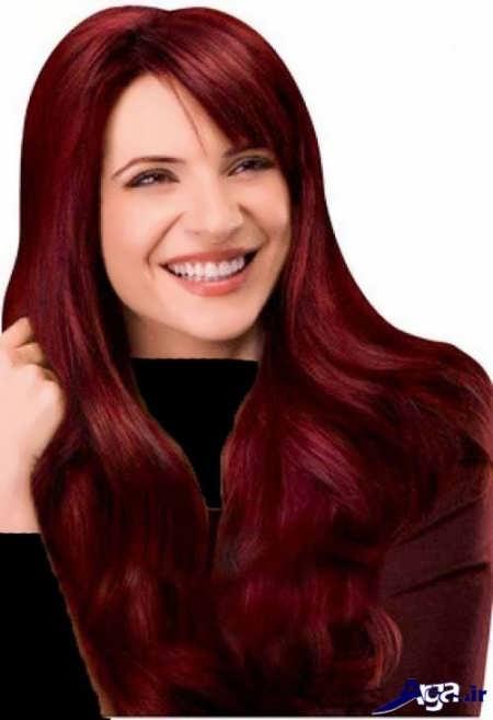 رنگ موی زیبا آلبالویی