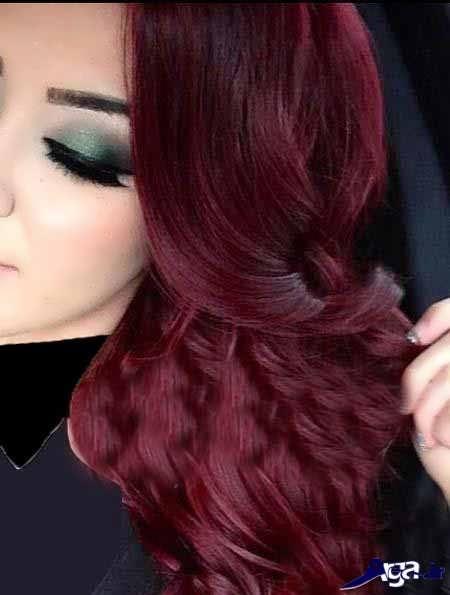 رنگ مو آلبالویی