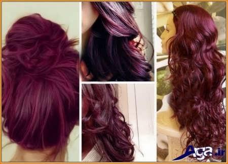 مدل رنگ مو آلبالویی