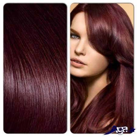 رنگ موی شرابی آلبالویی