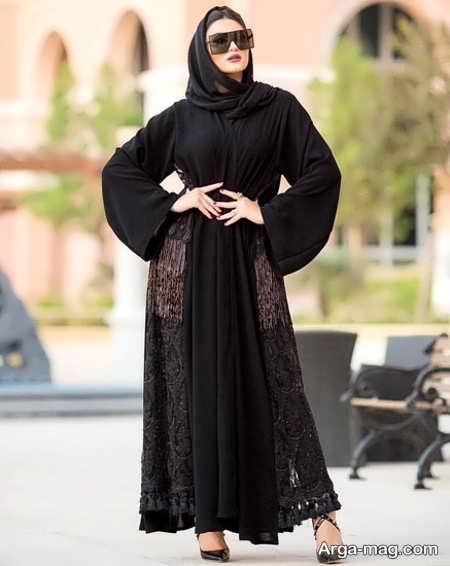 مدل مانتوی عربی مشکی