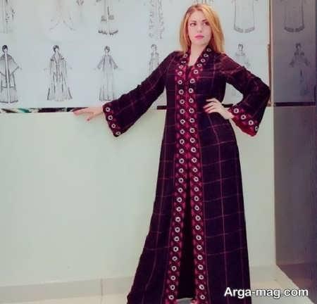 مدل مانتو عربی کارشده