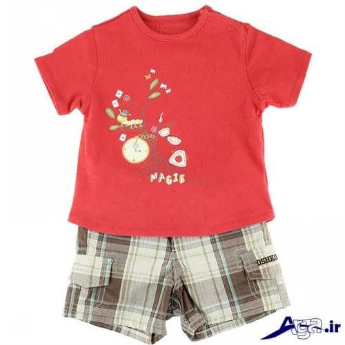 انواع طرح های لباس بچه گانه