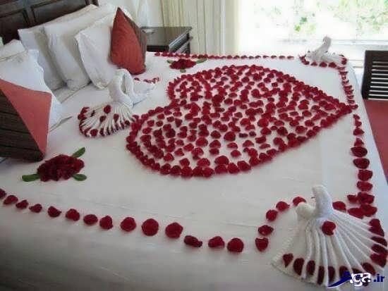دیزاین رمانتیک اتاق خواب عروس