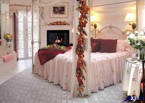 دیزاین اتاق خواب با گل