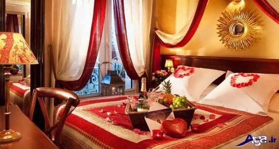 تزیین اتاق خواب عروس با تور و گل