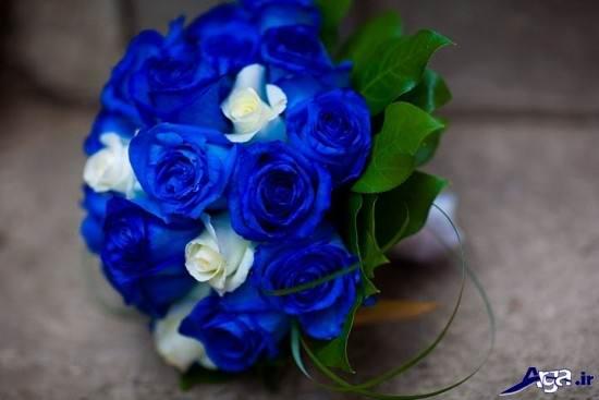 دسته گل آبی برای نامزدی