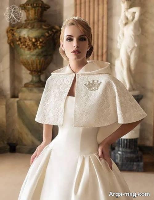 مدلی از شنل لباس عروس