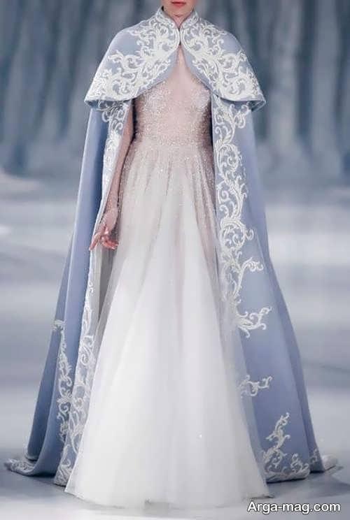 مدلی از شنل عروس بلند