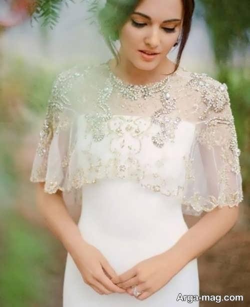 مدلی زیبا از شنل عروس