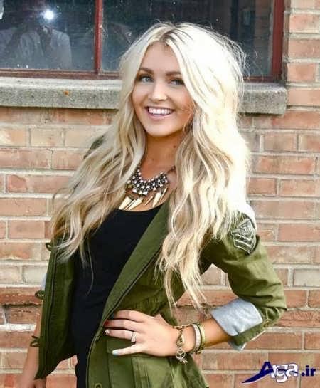 مدل موی بلند با رنگ روشن