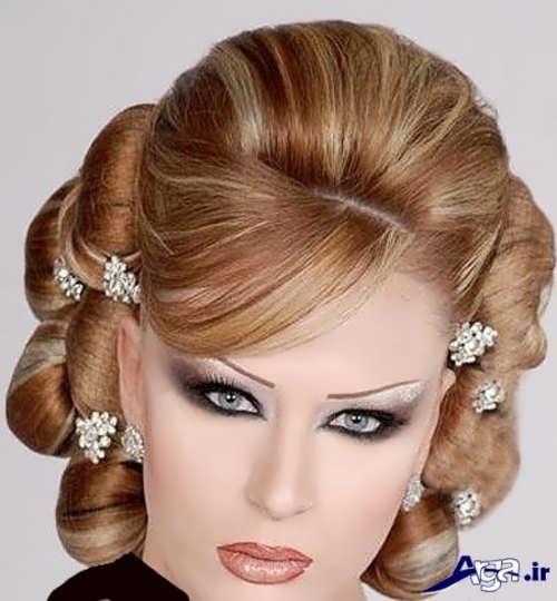 مدل شینیون با تور برای عروس