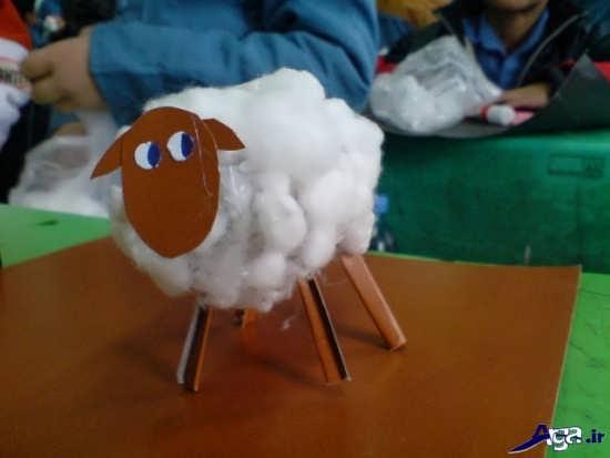 کاردستی گوسفند زیبا و جالب