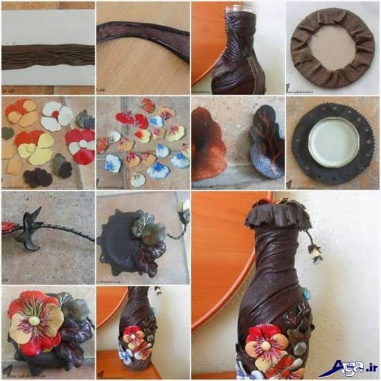 ساخت گلدان خلاقانه و جالب