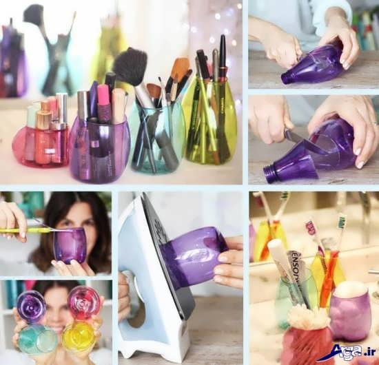 خلاقیت در ساخت گلدان با بطری