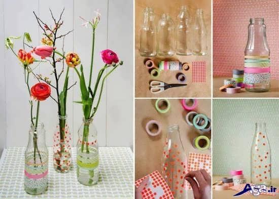 ساخت گلدان های زیبا و جالب