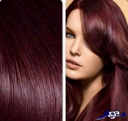 فرمول ترکیبی رنگ موی شرابی تیره