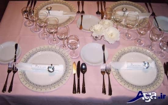 چیدمان صحیح ظروف بر روی میز شام