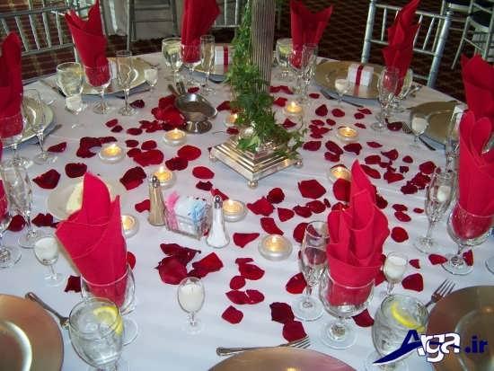 تزیین میز شام رمانتیک و زیبا