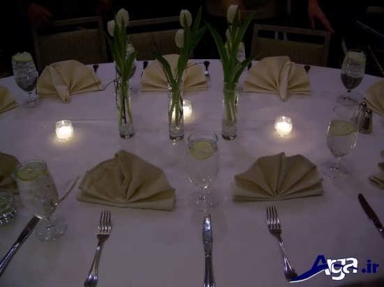 انواع ایده ها برای تزیین کردن میز شام