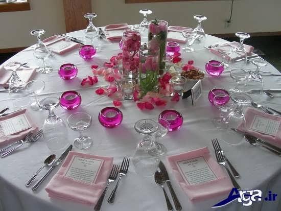 تزیین زیبا و جدید برای میز شام