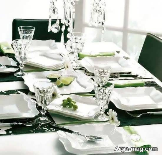تزیینات لوکس میز شام