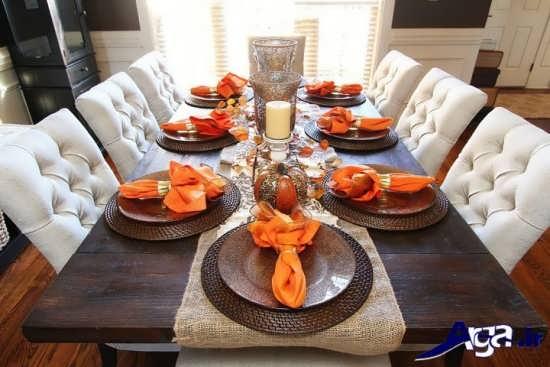 تزیین زیبای میز شام