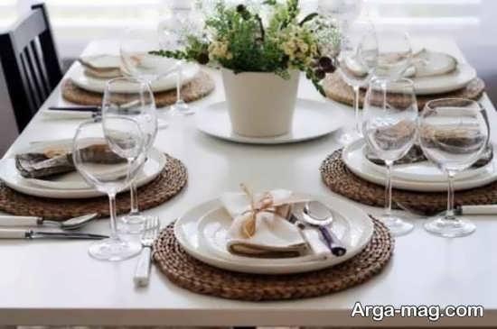 تزیینات شیک میز شام