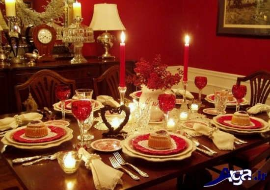 تزیین میز شام با کمک شمع های زیبا