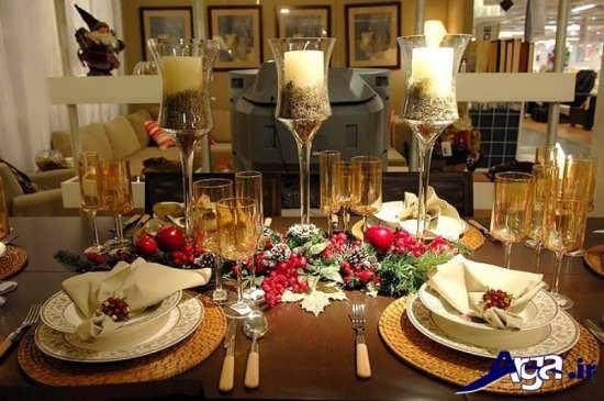 تزیین میز شام زیبا و جالب