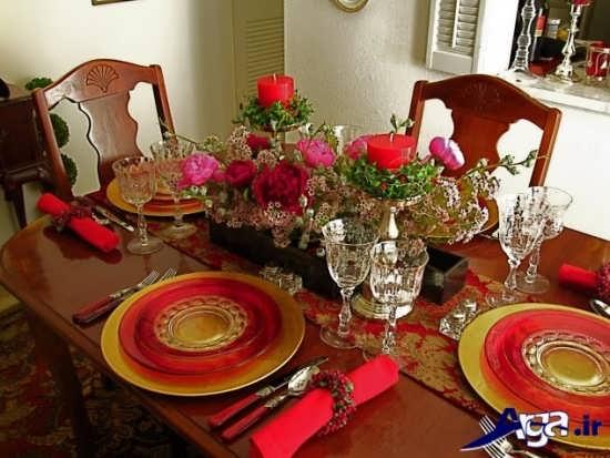 تزیین کردن میز شام با کمک گل