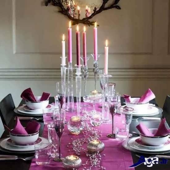 تزیینات مختلف و زیبا برای میز شام
