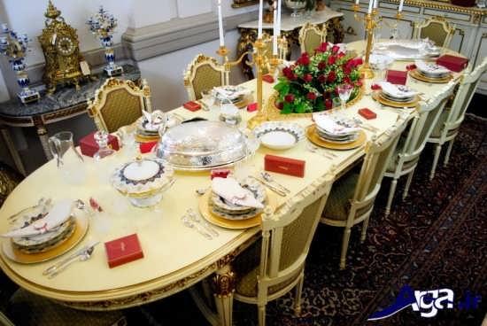 تزیین میز شام برای مهمانی ها و مجالس