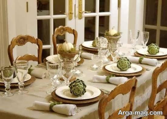 تزیین میز شام زیبا و شیک