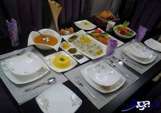 تزیین کردن میز شام برای مهمانی ها و مجالس مختلف