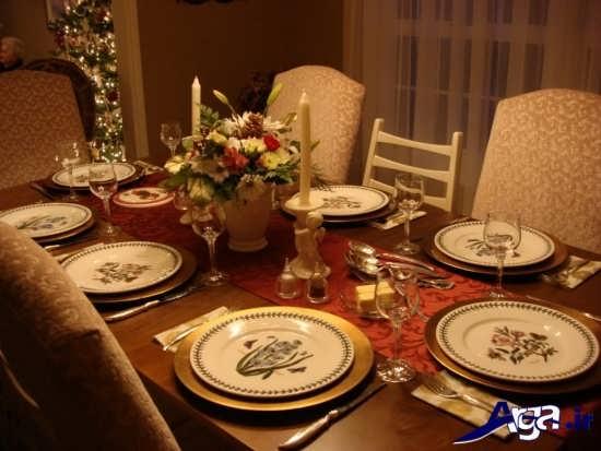 انواع ایده ها برای تزیین میز شام