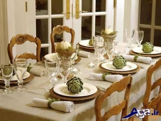 تزیین میز شام زیبا و جدید