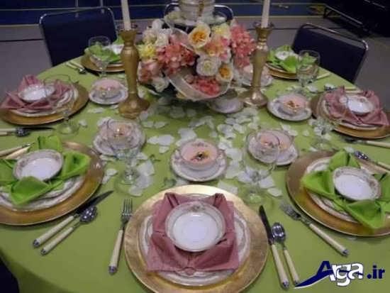 تزیین کردن میز شام با روش های مختلف و جدید