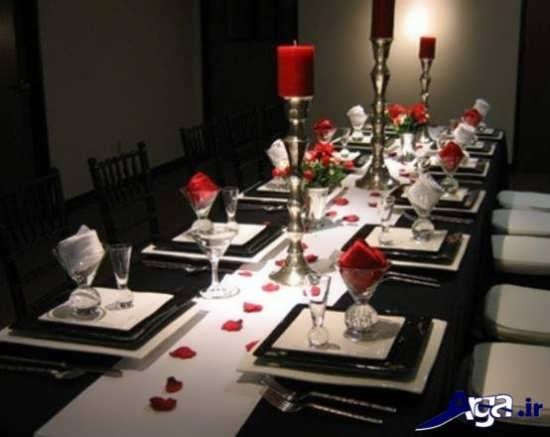 تزیین کردن میز شام به صورت رمانتیک