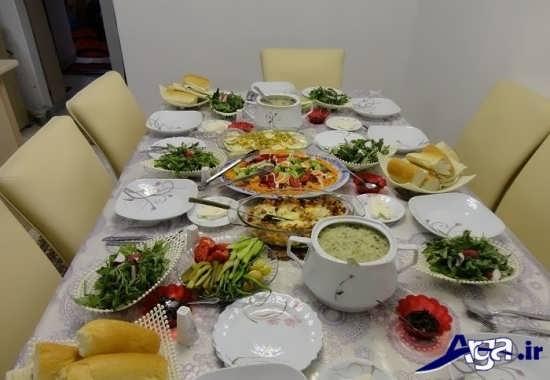 تزیین زیبا برای میز شام