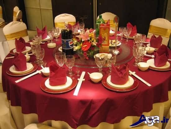 تزیینات زیبا و متفاوت میز شام
