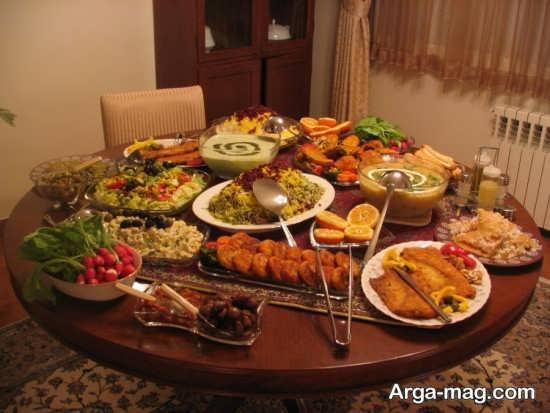 ایده تزیین میز شام