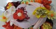 تزیین مرغ یخچال عروس