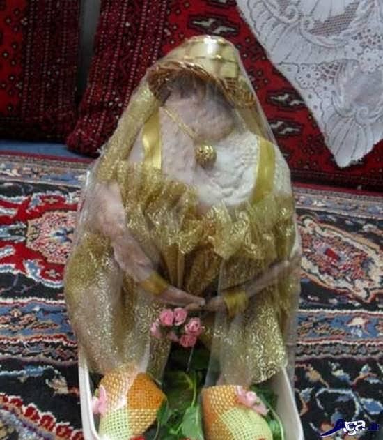 تزیین مرغ به شکل عروس