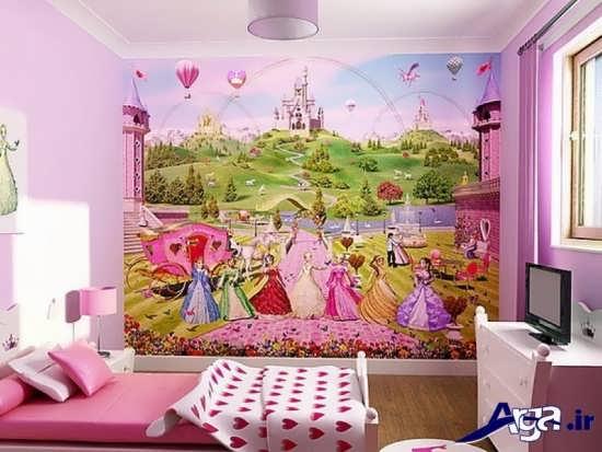 طراحی داخلی دکوراسیون اتاق کودکان دختر