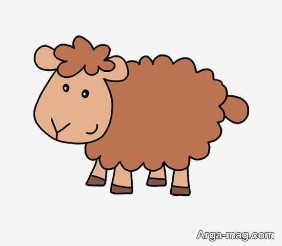 نقاشی و رنگ آمیزی گوسفند برای عید